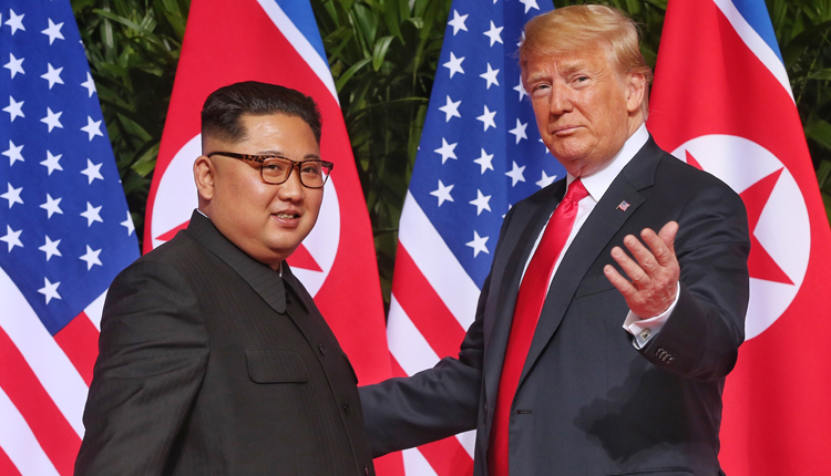 Kim Jong Un and Donald Trump met in Singapore on Tuesday.