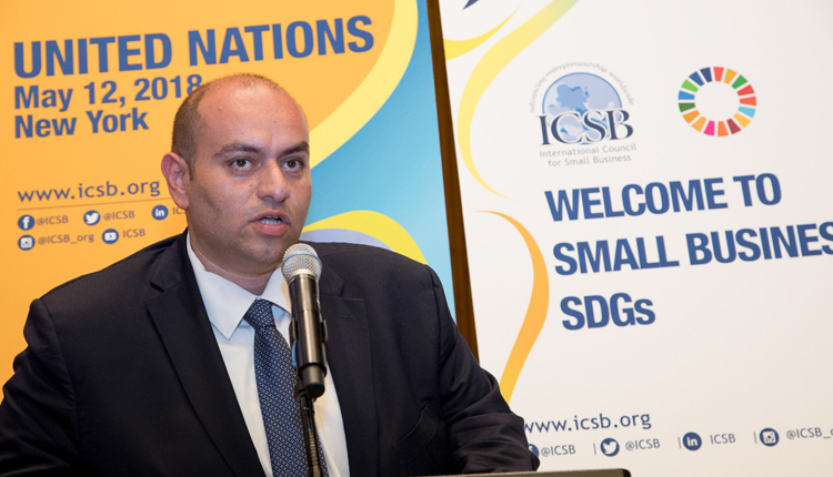 The International Council for Small Business' (ICSB) new president Ahmed Osman