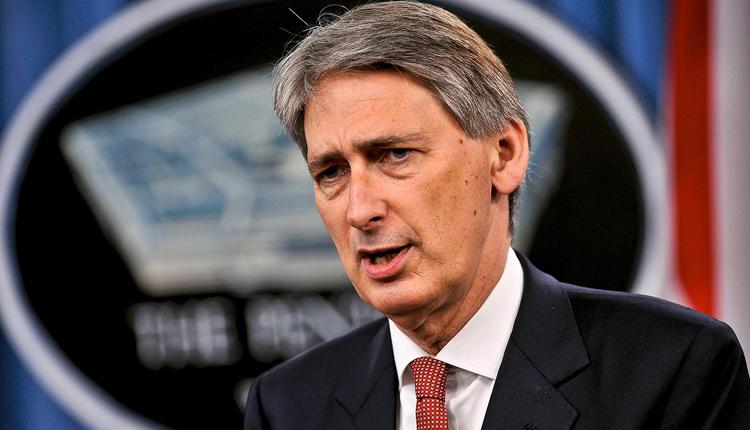 United Kingdom's Chancellor of the Exchequer Philip Hammond