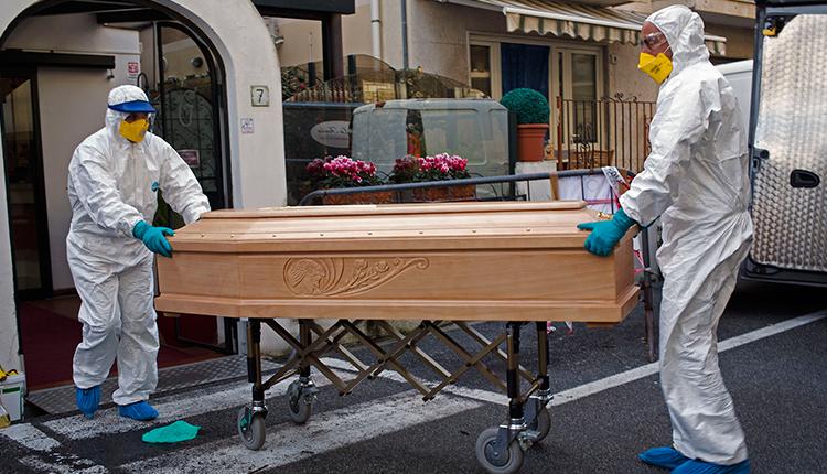 Dead bodies of coronavirus victims