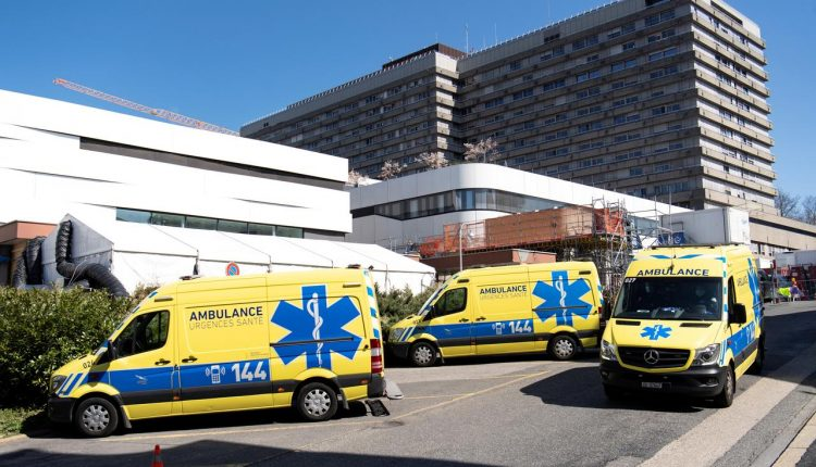 Switzerland's confirmed coronavirus cases